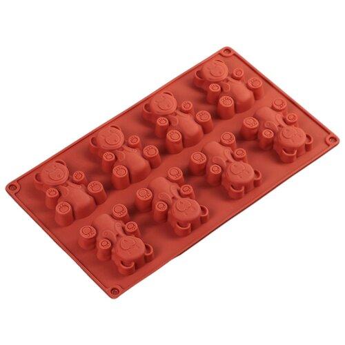 цена на Форма для выпечки силиконовая Доляна Животные.Мишка 2570383 (29х17х1.5 см)