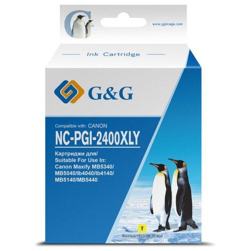 Фото - Картридж струйный G&G NC-PGI-2400XLY PGI-2400XL Y желтый (20.4мл) для Canon MAXIFY iB4040/ МВ5040/ М картридж canon pgi 2400y xl 9276b001 для canon ib4040 мв5040 5340 желтый