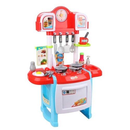 Купить Кухня Yako M9641 голубой/красный/белый, Детские кухни и бытовая техника