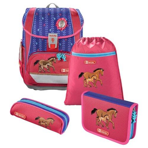 цена на Step By Step Ранец Light2 Lucky Horses 4 предмета (138960), розовый/синий