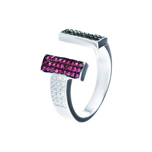 ELEMENT47 Кольцо из серебра 925 пробы с фианитами WR25599-BM-001-WG, размер 18.25