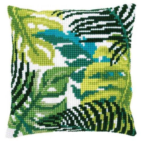 Vervaco Набор для вышивания подушки Ботанические листья 40 х 40 см (PN-0166284) набор для вышивания подушки полным крестом orchidea 9350 разноцветный 40 х 40 см