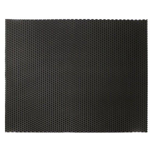 Придверный коврик ЖАНЕТТ универсальный соты, размер: 0.73х0.58 м, черный коврик придверный starexpo стандарт 90 150 см черный