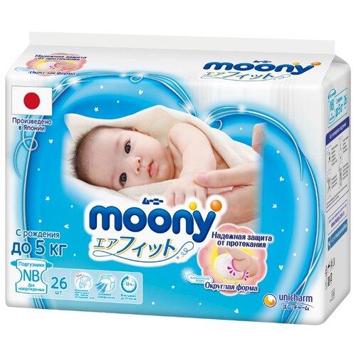 Moony подгузники New NB (0-5 кг) 26 шт.