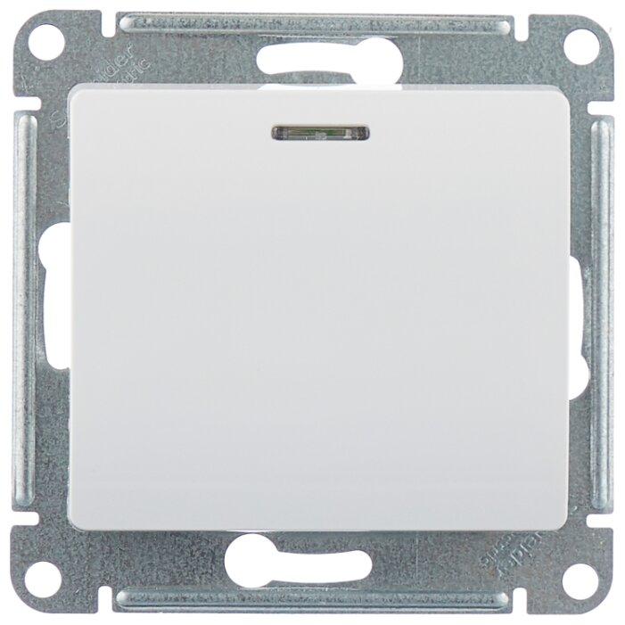 Выключатель 1-полюсный Schneider Electric GLOSSA GSL000113,10А, белый