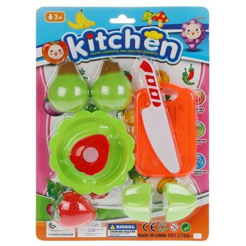 Купить Набор продуктов с посудой Shantou Gepai Kitchen KY188-1 разноцветный, Игрушечная еда и посуда