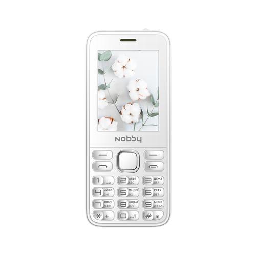 Телефон Nobby 221 белый (NBP-BP-24-213) сотовый телефон nobby 221 black