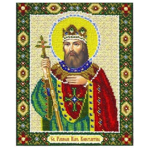 Паутинка Набор для вышивания бисером Святой Равноапостольный царь Константин 20 x 25 см (Б-1083) группа авторов святой равноапостольный николай японский