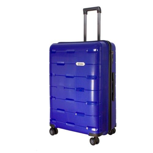 Чемодан PROFFI Tour Fashion L 98 л, синий чемодан proffi business lady m 63 л розовый
