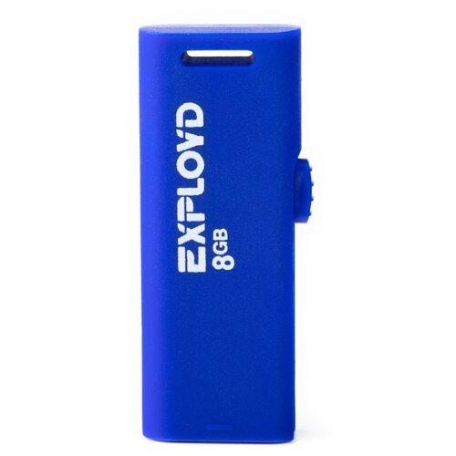 Фото - Флешка EXPLOYD 580 8GB blue usb flash drive 8gb exployd 580 ex 8gb 580 red