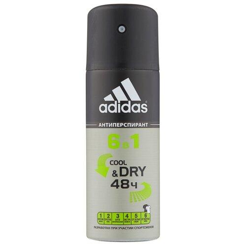 Дезодорант-антиперспирант спрей Adidas 6 в 1, 150 мл adidas дезодорант антиперспирант спрей cool