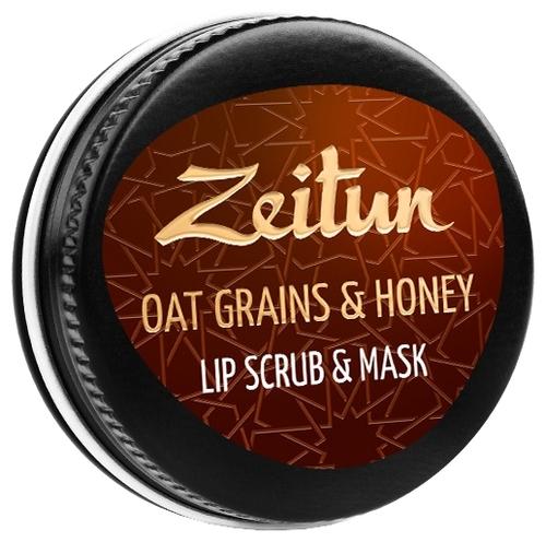 Zeitun Скраб-маска для губ Oat grains & honey