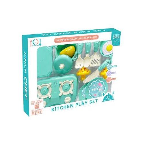 Купить Набор Shantou Gepai 1884779 голубой, Детские кухни и бытовая техника