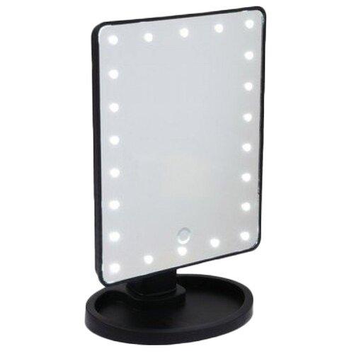 Купить Зеркало косметическое настольное LuazON KZ-06 с подсветкой черный