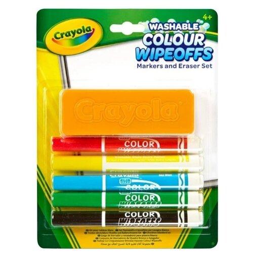 Купить Crayola Фломастеры стираемые с губкой 5 шт. (98-9302)