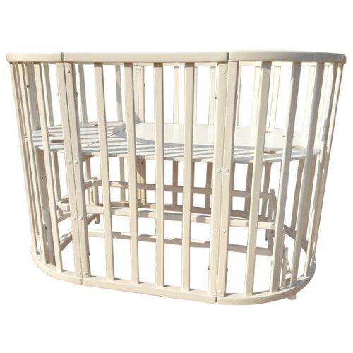 Кроватка JAKOMO Teo 9 в 1 (трансформер), универсальный маятник крем кроватка jakomo teo 7 в 1 трансформер белый