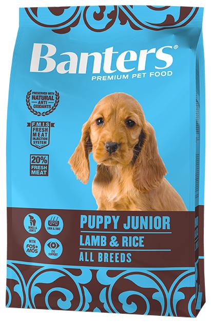 Корм для щенков Banters ягненок с рисом
