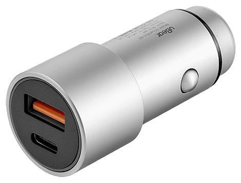 Автомобильная зарядка uBear Ride USB-A + USB-C
