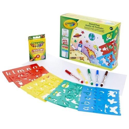 Купить Набор для детского творчества Crayola 04-0575 «Трафареты», Штампы, трафареты