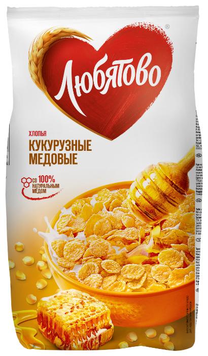 Стоит ли покупать Готовый завтрак Любятово Хлопья кукурузные медовые, пакет? Отзывы на Яндекс.Маркете