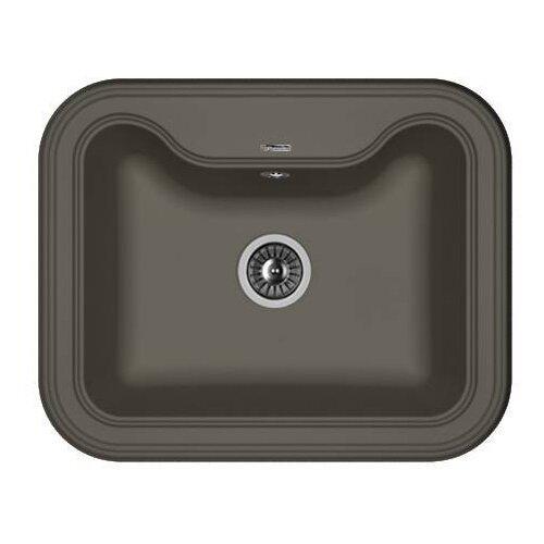 Врезная кухонная мойка 63 см FLORENTINA Крит-630 FS антрацит