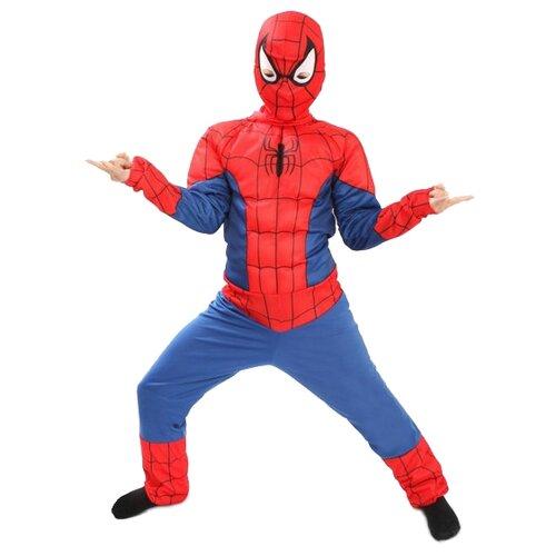 Купить Костюм Батик Человек-Паук (5092), синий/красный, размер 146, Карнавальные костюмы