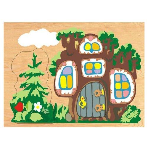 Рамка-вкладыш Чудо-Дерево Теремок (D110), 6 дет.Пазлы<br>