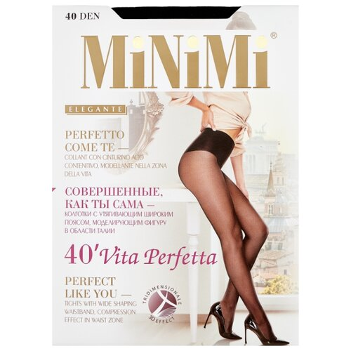 Колготки MiNiMi Vita Perfetta 40 den, размер 4-L, nero (черный) колготки minimi vittoria 40 den размер 4 l nero черный
