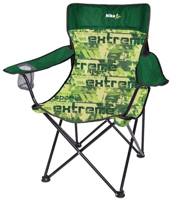 Кресло Nika Премиум 6 черный/хаки