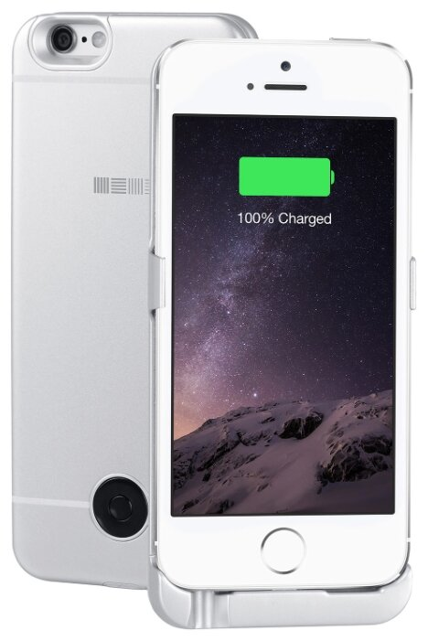 Чехол-аккумулятор INTERSTEP Metal battery case для iPhone 5/5S/SE silver