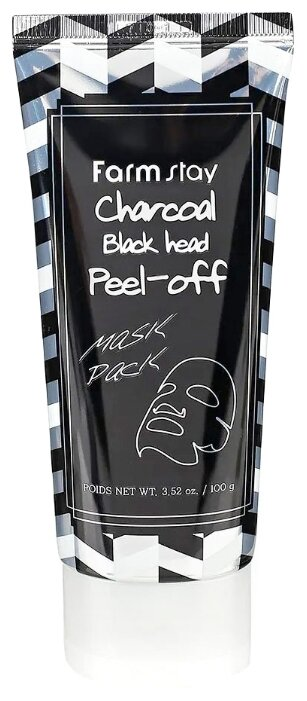Farmstay Очищающая маска пленка с углем Charcoal