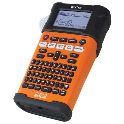 Термотрансферный принтер этикеток Brother PT-E300VP оранжевый/черный