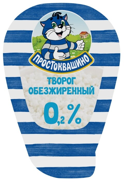 Творог Простоквашино обезжиренный 0,2% жирности 210г