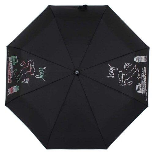 Зонт полуавтомат FLIORAJ 100801 FJ черный рюкзак женский flioraj цвет черный 00058058