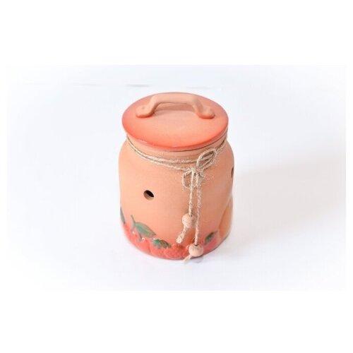 Борисовская керамика Банка для сухофруктов Стандарт, 1 л коричневый