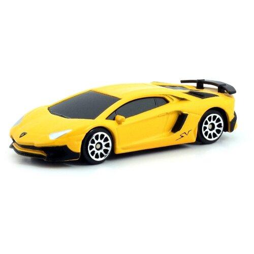Купить Легковой автомобиль RMZ City Lamborghini Aventador LP 750-4 Superveloce (344994SM) 1:64 желтый, Машинки и техника
