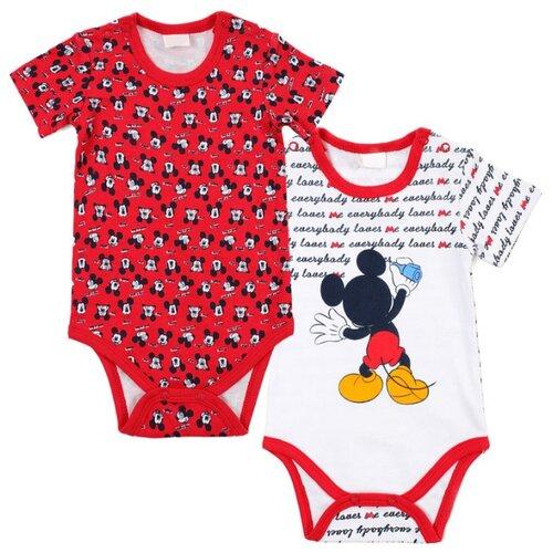 Боди playToday размер 56, белый/красный боди для мальчика cherubino цвет красный cwn 4164 185 размер 56