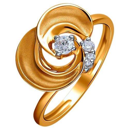 Эстет Кольцо с 4 фианитами из красного золота 01К1112330Р, размер 16 ЭСТЕТ