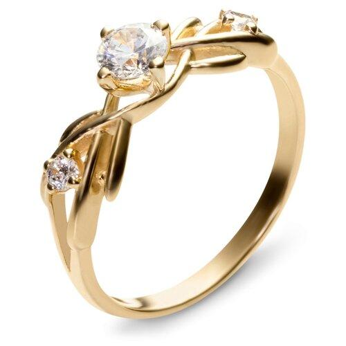 Эстет Кольцо с фианитами из желтого золота 01К136081, размер 19