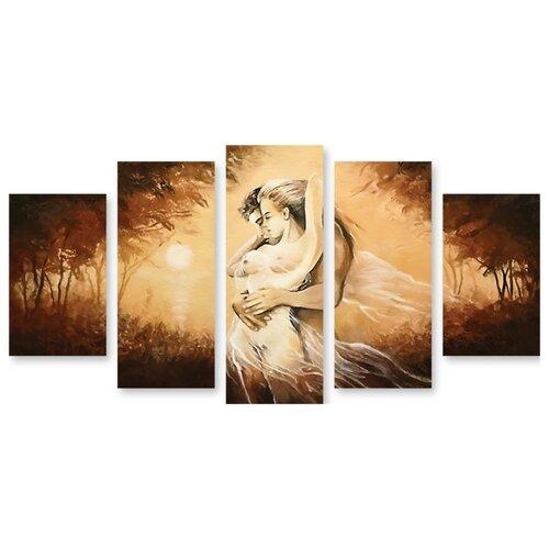 Модульная картина на холсте Нежность 120x73 см