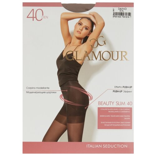 Колготки Glamour Beauty Slim 40 den, размер 5-XL, daino (бежевый) колготки glamour beauty shape 40 den размер 4 l daino бежевый
