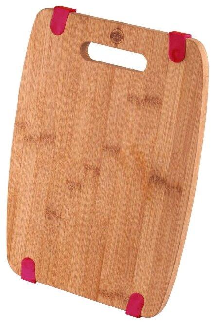 Доска разделочная BRAVO с силиконовыми вставками, бамбук, 24*19*1,2 см