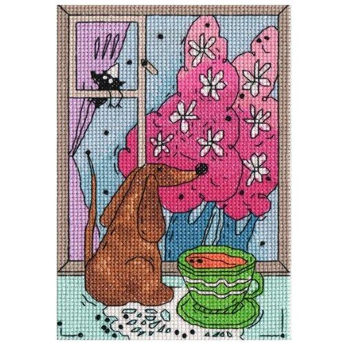 Купить Klart Набор для вышивания Весна за окошком 10.5 х 16.5 см (8-205), Наборы для вышивания