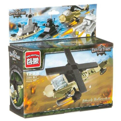 Конструктор Qman CombatZones 1223 Атакующий вертолет конструктор qman combatzones 1712 военная база