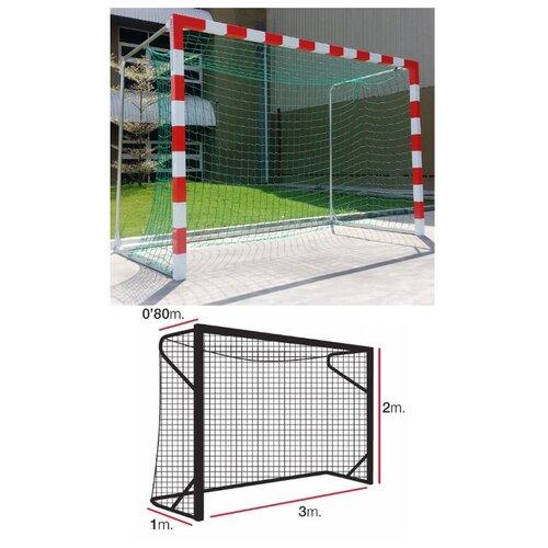 Сетка для гандбола/футзала EL LEON DE ORO, 3x2+0.8+1.0 м, нить 5мм ПП, зеленая (11445010002)