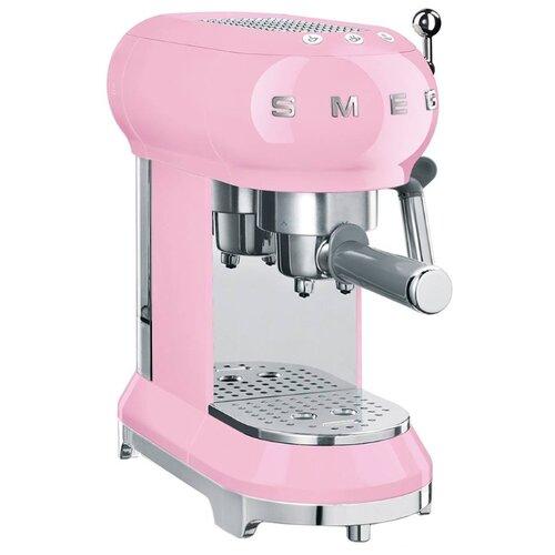 Кофеварка рожковая smeg ECF01 розовый