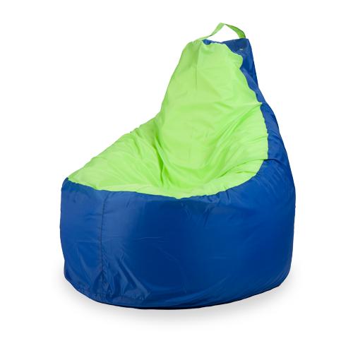 Пуффбери кресло-мешок Комфорт синий/лайм оксфорд