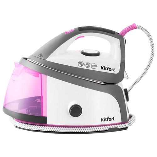 Парогенератор Kitfort KT-944 белый/розовый