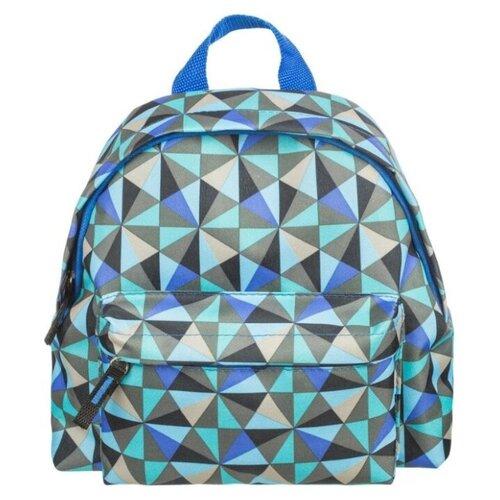 Купить №1 School Рюкзак Треугольники 843422, голубой, Рюкзаки, ранцы
