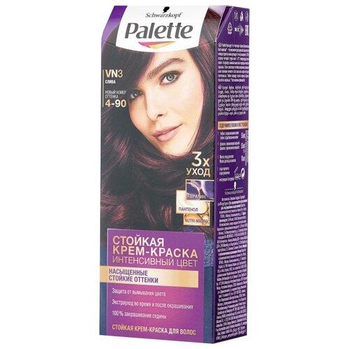 Palette Интенсивный цвет Стойкая крем-краска для волос, VN3 4-90 Слива